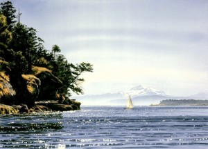 """Leaving Tumbo Island,"" by Carol Evans 21 1/2 x 30 - Giclée on canvas (edition size of 100) - $675 Unframed PAPER EDITION SOLD OUT"