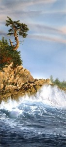 """Lookout Islet,"" by Carol Evans 15 1/4 x 33 - Giclée on paper (edition size of 295) - $495 Unframed 19 3/4 x 44 - Giclée on canvas (edition size of 100) - $1150 Unframed"