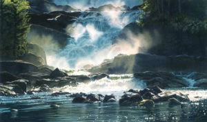 """Ocean Falls,"" by Carol Evans 19 x 32 - Giclée on paper (edition size of 295) - $495 Unframed"
