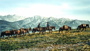 """Pack Trail,"" by Carol Evans 13 x 23 - Giclée on paper (edition size of 195) - $375 Unframed"
