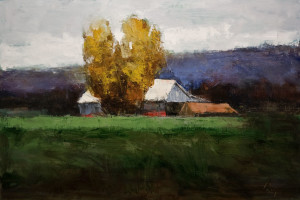 "SOLD ""Pas Encore Tombeés,"" by Robert P. Roy (Not Yet Fallen) 24 x 36 – oil $1400 Unframed"