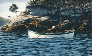 """The Rower,"" by Carol Evans 6 x 10 - Giclée on paper (edition size of 295) - $110 Unframed"