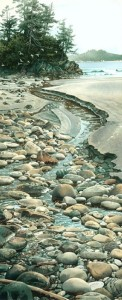 """Seabound Stream,"" by Carol Evans 12 x 30 - Giclée on paper (edition size of 295) - $395 Unframed 15 x 37 - Giclée on canvas (edition size of 100) - $675 Unframed"