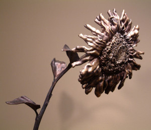 """September Sunflower No. 3,"" by Nicola Prinsen Bronze - 8' 5"" height Edition of 1 $9400"