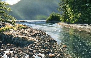 """Tidal Stream,"" by Carol Evans 6 3/4 x 10 1/2 - Giclée on paper (edition size of 295) - $110 Unframed"
