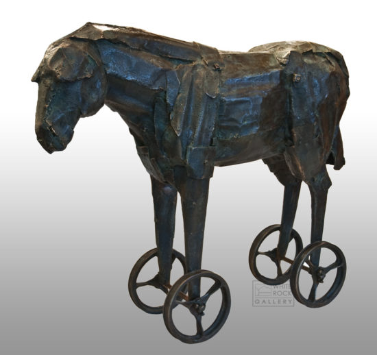 """Tin Horse,"" by Nicola Prinsen 38"" (H) x 43"" (L) x 12"" (W) - bronze Artist's Proof $18,500"