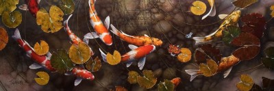 """Turning Colors"" 20 x 60 - Giclée print on canvas Artist's Proof - $2,565 CAD Unframed USD $1975 Unframed"