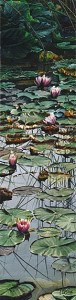 """Water Lilies at Dawn,"" by Carol Evans 6 x 24 - lithograph on paper (edition size of 350) $195 Unframed"