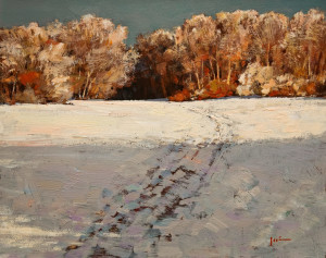 "SOLD ""Winter's Charm"" by Min Ma 8 x 10 - acrylic $770 Unframed $950 in show frame"