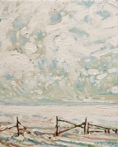 "SOLD ""A Broken Fence"" by Steve Coffey 8 x 10 - oil $660 Unframed $765 in show frame"