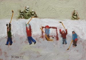 "SOLD ""Celebration"" by Paul Healey 5 x 7 - oil $250 Unframed $425 in show frame"