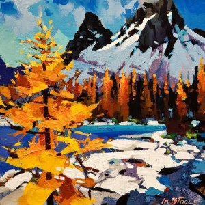 "SOLD ""Colours of Yoho National Park"" by Michael O'Toole 12 x 12 - acrylic $850 Unframed $975 in show frame"