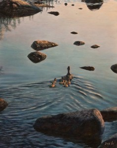 "SOLD ""Heading Home"" by Don Li 11 x 14 - oil $1200 Unframed $1425 in show frame"