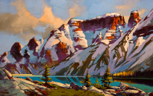 "SOLD ""High Mountain Pattern (Jasper Park, Alberta),"" by Mike Svob 30 x 48 - acrylic $7860 Unframed"