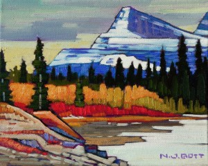 "SOLD ""Mount Christie,"" by Nicholas Bott 8 x 10- oil $1015 Unframed $1200 in show frame"