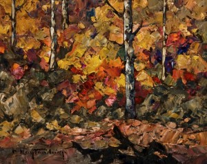 "SOLD ""October Splendour,"" by Phil Buytendorp 8 x 10 - oil $520 Unframed $700 in show frame"