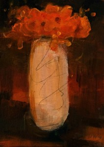 "SOLD ""A Pretty Little Number"" by Susan Flaig 5 x 7 - acrylic/graphite $315 Unframed $490 in show frame"