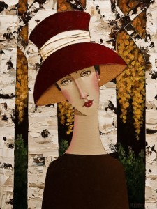 "SOLD ""Tessa in Autumn"" by Danny McBride 12 x 16 - acrylic $1250 (thick canvas wrap without frame) $1435 in show frame"
