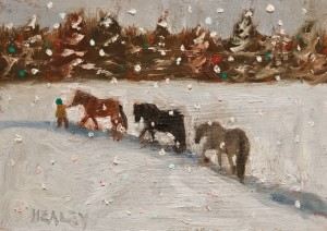 "SOLD ""The Trail"" by Paul Healey 5 x 7 - oil $250 Unframed $425 in show frame"