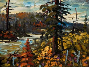 "SOLD ""Waskesiu, October"" by Rod Charlesworth 9 x 12 - oil $845 Unframed $1050 in show frame"