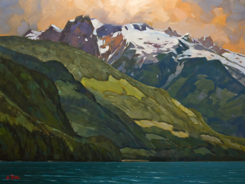 """The Mountains of Jervis Inlet,"" by Graeme Shaw 30 x 40 - oil $3620 Unframed"
