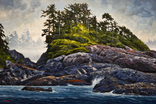 """Tenacity,"" by Graeme Shaw 40 x 60 - oil $7800 Unframed"