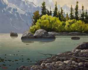 "SOLD ""Tranquil Morning,"" by Graeme Shaw 24 x 30 – oil $2365 Unframed"