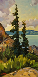 "SOLD ""Under Summer Skies,"" by Graeme Shaw 12 x 24 – oil $1050 Unframed"