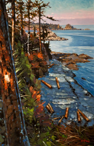 "SOLD ""West View, Piper's Lagoon"" by Graeme Shaw 22 x 34 – oil $2525 Unframed"
