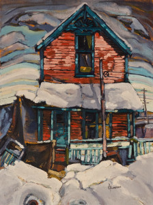 "SOLD ""Strathcona No. 6,"" by Ed Loenen 12 x 16 - oil $910 Unframed"