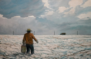 "SOLD ""Another Winter Breakdown,"" by Steve Coffey 24 x 36 – oil $2100 Unframed"