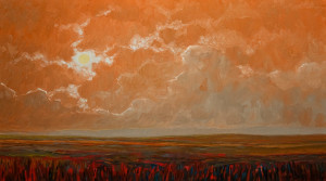 "SOLD ""Breaking Southern Storm,"" by Steve Coffey 20 x 36 – oil $2020 Unframed"
