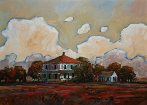 "SOLD ""Deserted Homestead,"" by Steve Coffey 20 x 28 – oil $1730 Unframed"