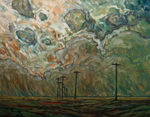 "SOLD ""Land Lines,"" by Steve Coffey 20 x 26 – oil $1750 Unframed"