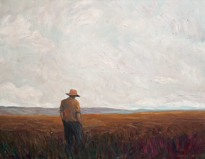 "SOLD ""Rest,"" by Steve Coffey 22 x 28 – oil $1800 Unframed"