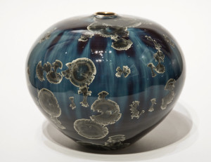 "SOLD Vase (BB-3953) by Bill Boyd crystalline-glaze ceramic – 6"" x 7"" $225"