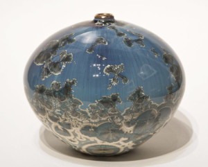 "SOLD Vase (BB-3954) by Bill Boyd crystalline-glaze ceramic – 5 1/2"" x 6"" $225"