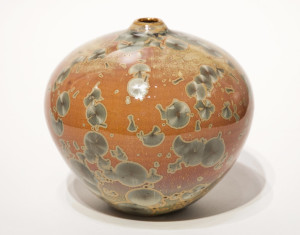 "SOLD Vase (BB-3955) by Bill Boyd crystalline-glaze ceramic – 5"" x 5 1/2"" $185"