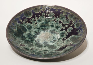 "SOLD Bowl (BB-3956) by Bill Boyd crystalline-glaze ceramic – 10"" (W) $130"