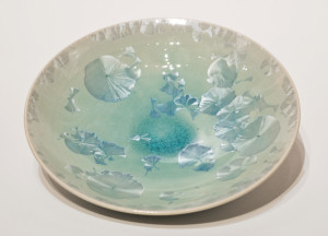 "SOLD Bowl (BB-3957) by Bill Boyd crystalline-glaze ceramic – 8 1/2"" (W) $110"