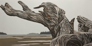 "SOLD ""The Drifter,"" by Ken Kirkby 20 x 40 – oil $2400 Unframed"