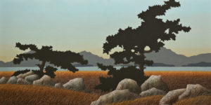 "SOLD ""The End of Summer,"" by Ken Kirkby 24 x 48 – oil $3200 Unframed"