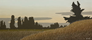 """Evening on the Delta,"" by Ken Kirkby 16 x 36 - oil $1725 Unframed"
