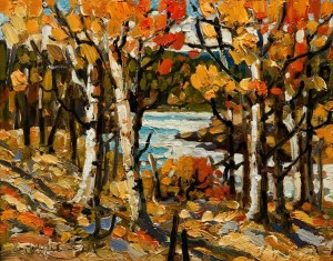 "SOLD ""Late September, Mission Creek,"" by Rod Charlesworth 8 x 10 – oil $750 Unframed $870 Custom framed"