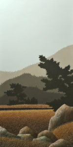 """Late Summer Evening,"" by Ken Kirkby 24 x 48 - oil $3200 Unframed"