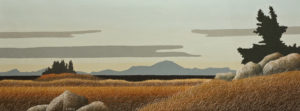 """The Long View,"" by Ken Kirkby 18 x 48 - oil $2600 Unframed"