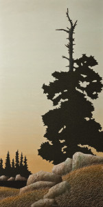 """The Lookout,"" by Ken Kirkby 20 x 40 - oil $2400 Unframed"
