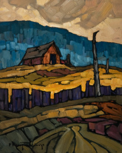 "SOLD ""Near Ryder Lake,"" by Phil Buytendorp 8 x 10 – oil $570 Unframed $780 Custom framed"