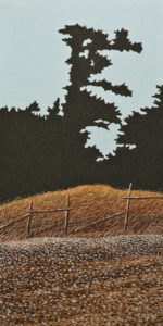 """The Old Fence,"" by Ken Kirkby 12 x 24 - oil $850 Unframed"
