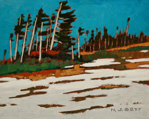 """On Hudson Bay Mountain,"" by Nicholas Bott 8 x 10 - oil $1090 Unframed"